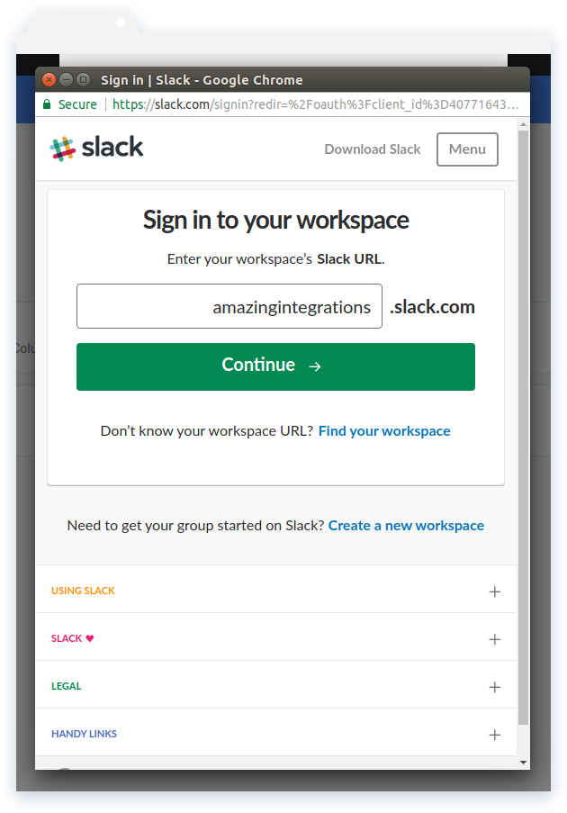 Workspace Sign-in