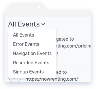 Event Type Dropdown